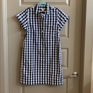 Jcrew checkered shirt dress